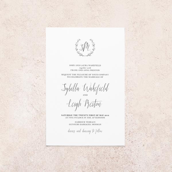 Wedding invitations Australia