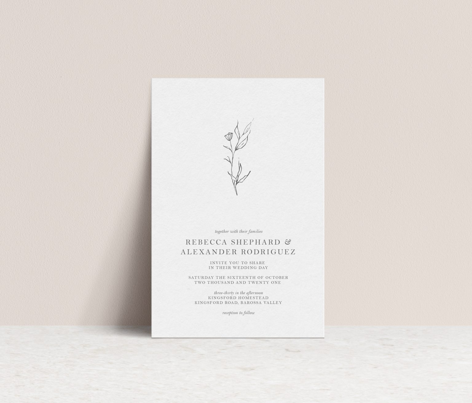 pretty wedding invitation