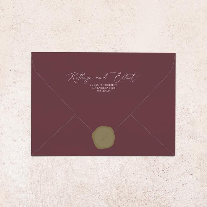 White Ink Envelope