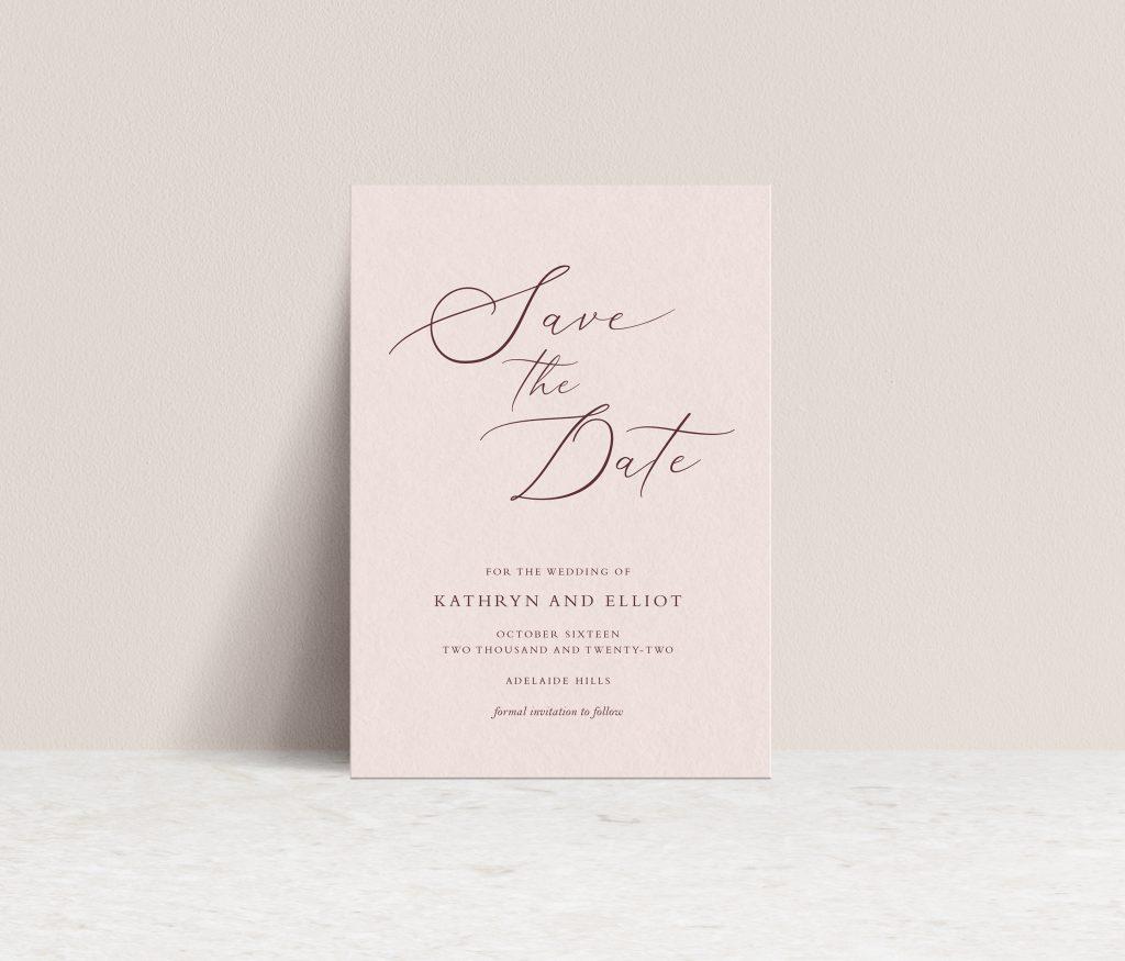 Save the date wedding invites Australia