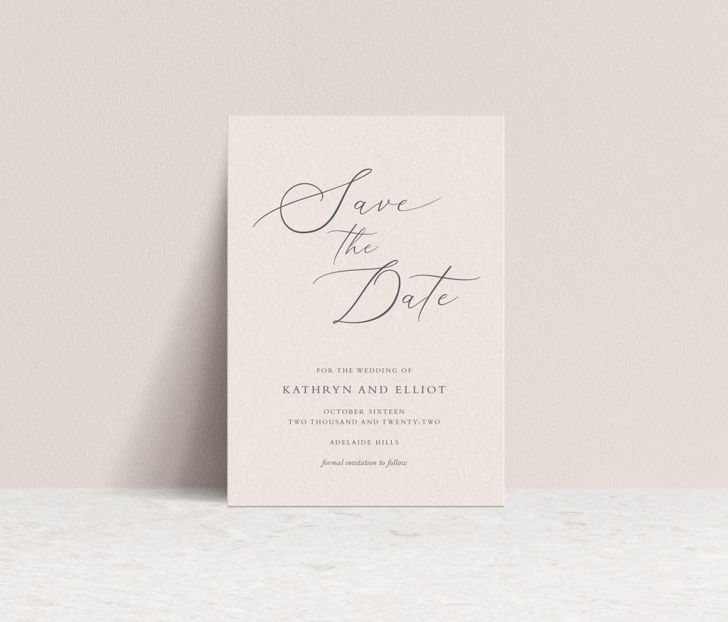 Save the Date wedding Australia