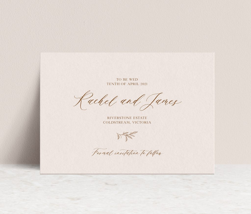 Save the date wedding invitations Melbourne