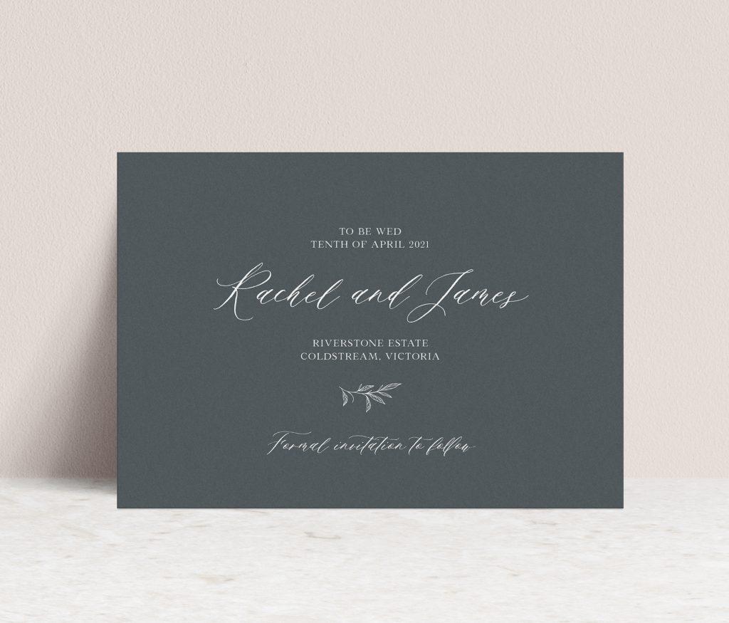Save the dates wedding stationery Australia