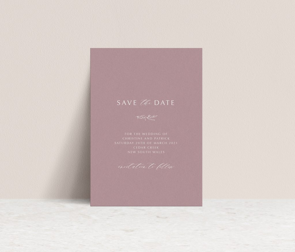 Save the Dates Sydney