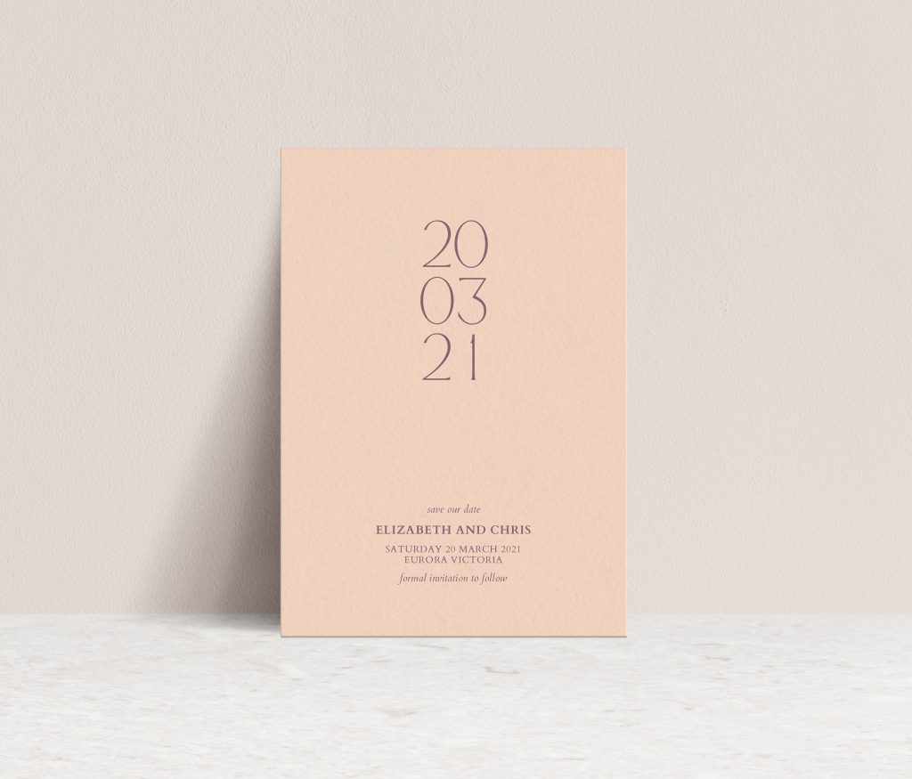 Save the Dates Melbourne wedding invitations