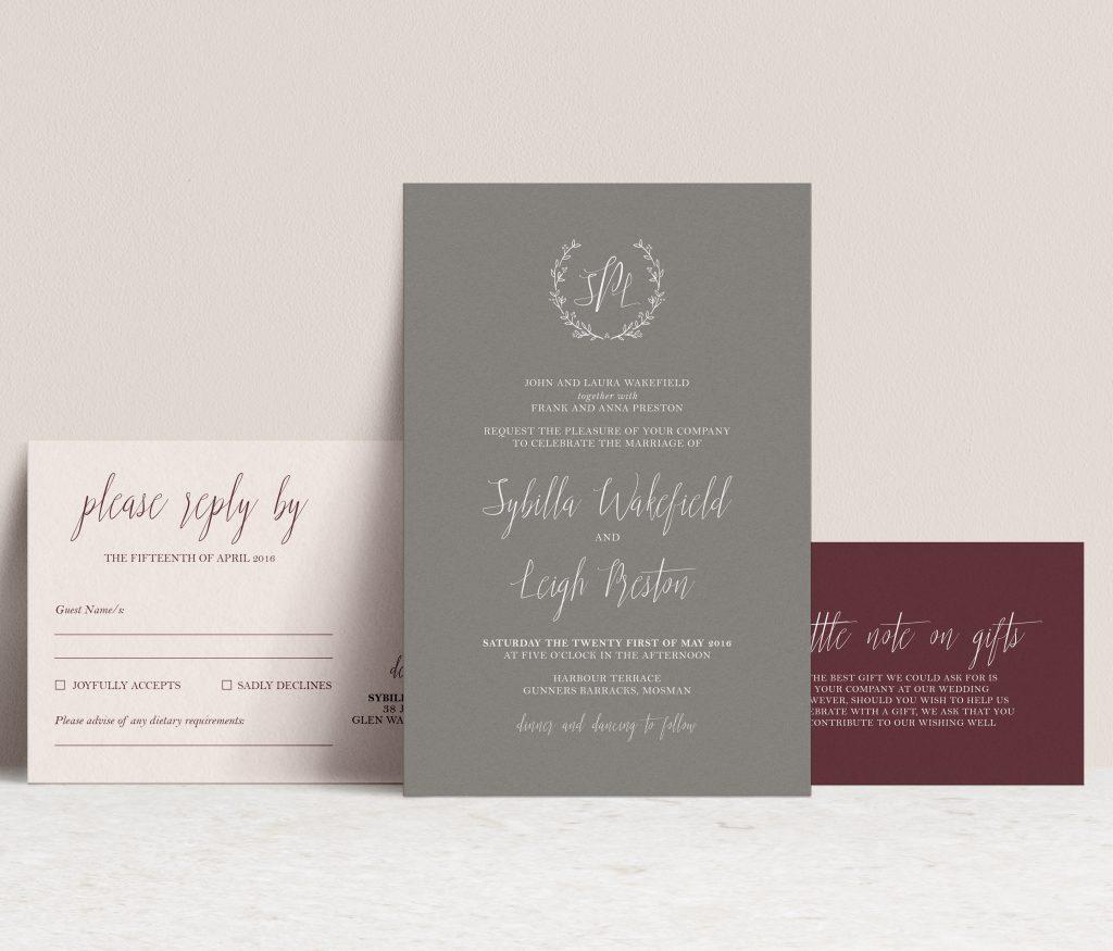 White Ink Wedding Stationery Melbourne
